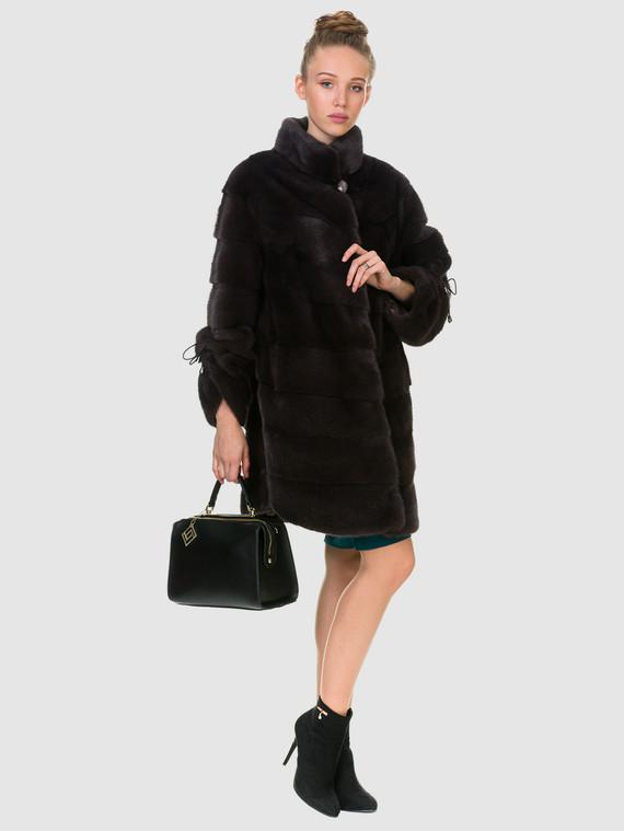 Шуба из норки мех норка, цвет темно-серый, арт. 30900839  - цена 105990 руб.  - магазин TOTOGROUP