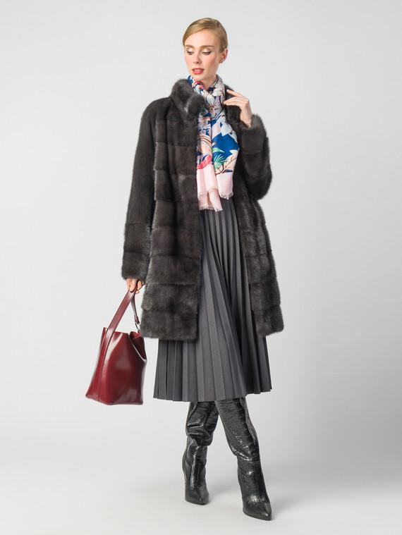 Шуба из норки мех норка, цвет темно-серый, арт. 30900854  - цена 49990 руб.  - магазин TOTOGROUP