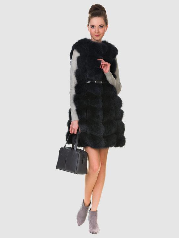 Меховой жилет мех песец, цвет темно-серый, арт. 30900921  - цена 15990 руб.  - магазин TOTOGROUP