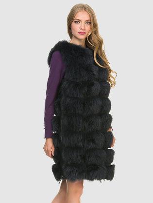 Меховой жилет мех песец, цвет темно-серый, арт. 30900925  - цена 22690 руб.  - магазин TOTOGROUP