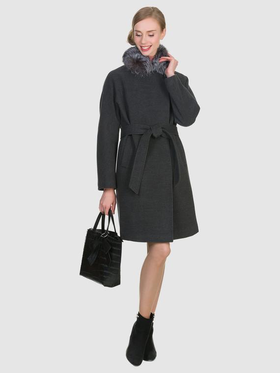 Текстильное пальто 50%шерсть, 50% п/а, цвет темно-серый, арт. 30902698  - цена 6990 руб.  - магазин TOTOGROUP