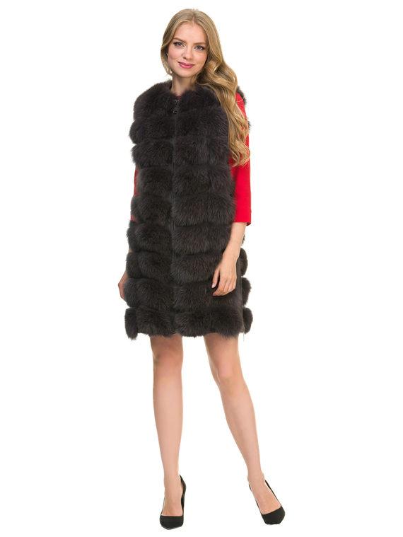 Меховой жилет мех песец, цвет темно-серый, арт. 30902717  - цена 14990 руб.  - магазин TOTOGROUP