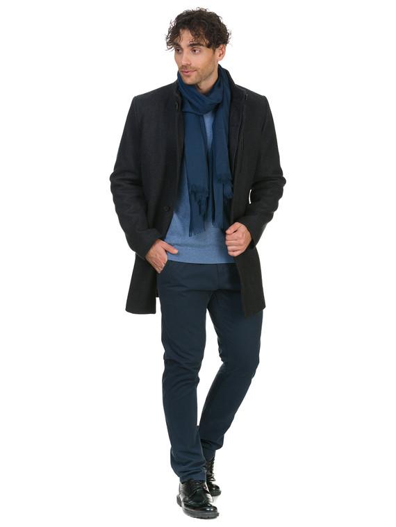 Текстильное пальто 51% п/э,49%шерсть, цвет темно-серый, арт. 30902745  - цена 4490 руб.  - магазин TOTOGROUP
