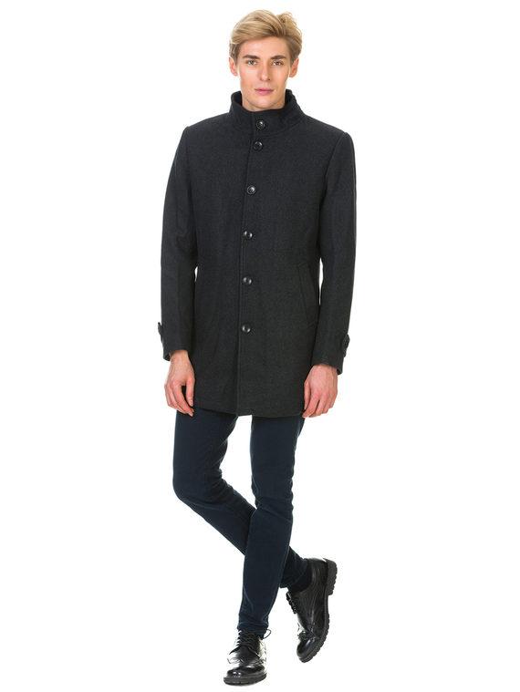 Текстильное пальто 51% п/э,49%шерсть, цвет темно-серый, арт. 30902748  - цена 4490 руб.  - магазин TOTOGROUP