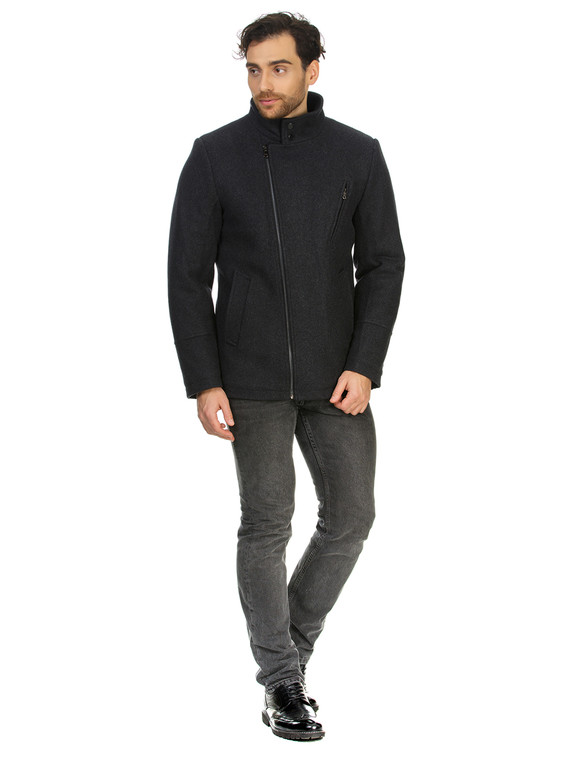 Текстильное пальто 51% п/э,49%шерсть, цвет темно-серый, арт. 30902752  - цена 4740 руб.  - магазин TOTOGROUP