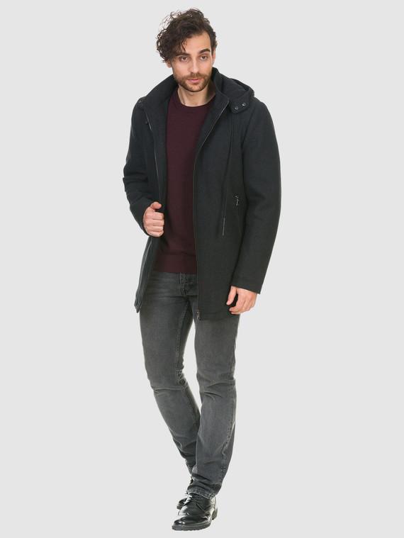 Текстильное пальто 51% п/э,49%шерсть, цвет темно-серый, арт. 30902755  - цена 4740 руб.  - магазин TOTOGROUP