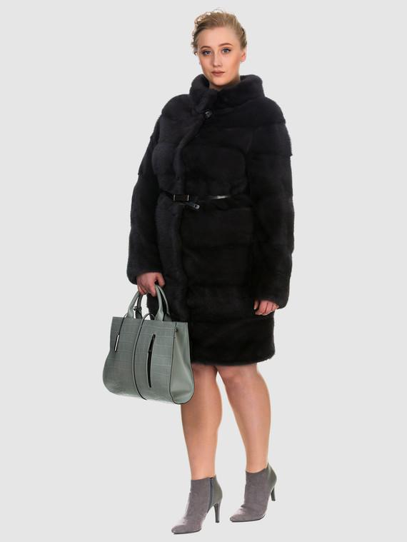 Шуба из норки мех норка, цвет темно-серый, арт. 30902913  - цена 105990 руб.  - магазин TOTOGROUP