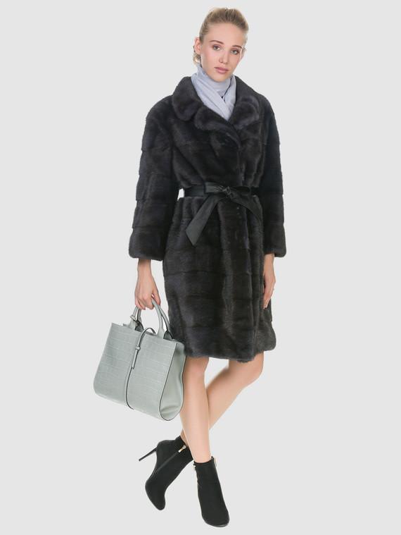 Шуба из норки мех норка, цвет темно-серый, арт. 30902961  - цена 67990 руб.  - магазин TOTOGROUP
