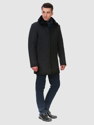 Текстильное пальто 51% п/э,49%шерсть, цвет темно-серый, арт. 30902973  - цена 10590 руб.  - магазин TOTOGROUP