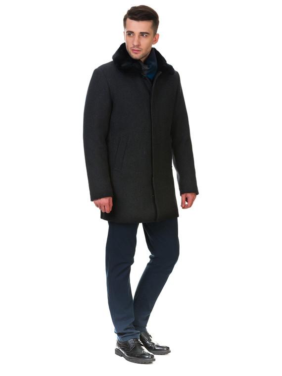 Текстильное пальто 51% п/э,49%шерсть, цвет темно-серый, арт. 30902973  - цена 6290 руб.  - магазин TOTOGROUP