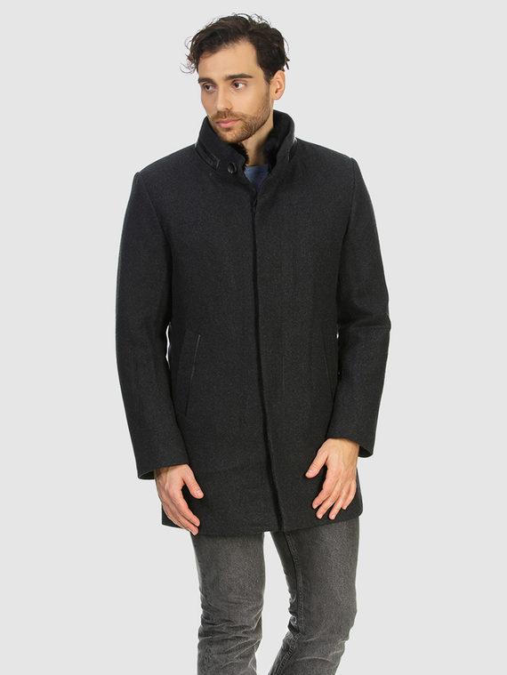Текстильное пальто 51% п/э,49%шерсть, цвет темно-серый, арт. 30902974  - цена 6290 руб.  - магазин TOTOGROUP