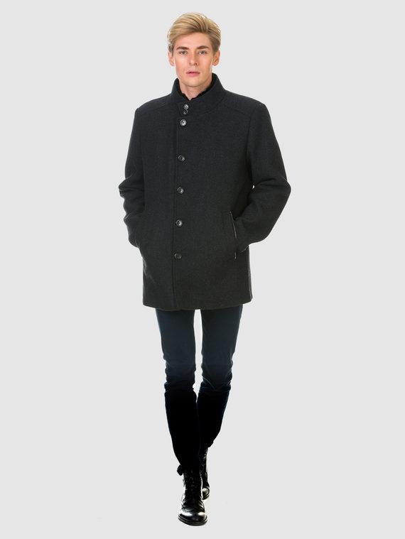 Текстильное пальто 51% п/э,49%шерсть, цвет темно-серый, арт. 30902975  - цена 6290 руб.  - магазин TOTOGROUP