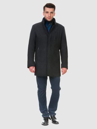 Текстильное пальто 51% п/э,49%шерсть, цвет темно-серый, арт. 30902976  - цена 10590 руб.  - магазин TOTOGROUP