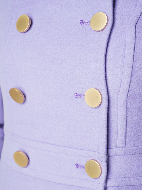 Текстильное пальто артикул 31005649/42 - фото 4