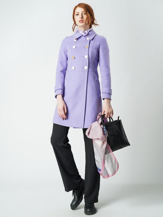 Текстильное пальто 30%шерсть, 70% п\а, цвет светло-фиолетовый, арт. 31005649  - цена 4490 руб.  - магазин TOTOGROUP