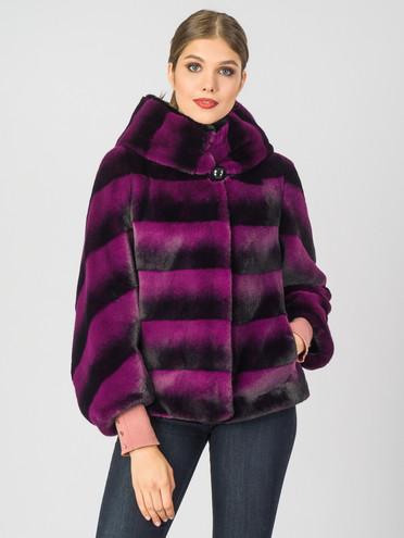 Шуба из эко-меха эко мех, цвет светло-фиолетовый, арт. 31007196  - цена 7990 руб.  - магазин TOTOGROUP