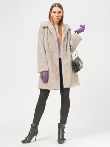 Шуба из норки мех норка, цвет светло-фиолетовый, арт. 31109180  - цена 67990 руб.  - магазин TOTOGROUP
