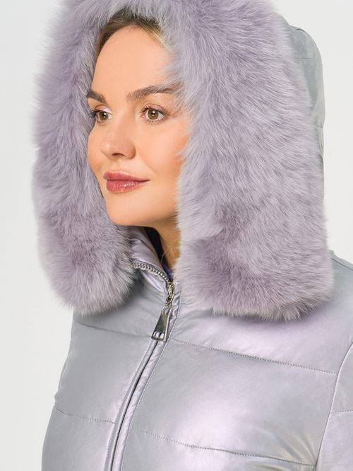 Кожаное пальто артикул 31109242/48 - фото 4