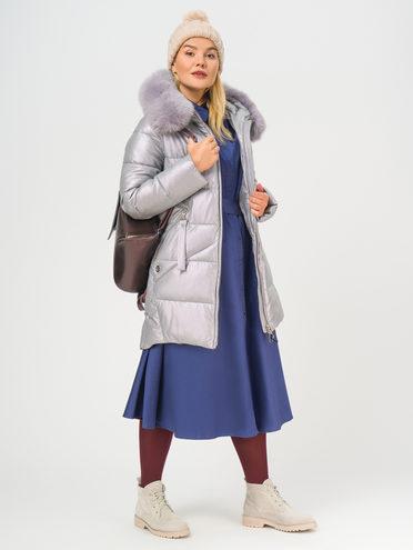 Кожаное пальто эко-кожа 100% П/А, цвет светло-фиолетовый, арт. 31109242  - цена 12690 руб.  - магазин TOTOGROUP