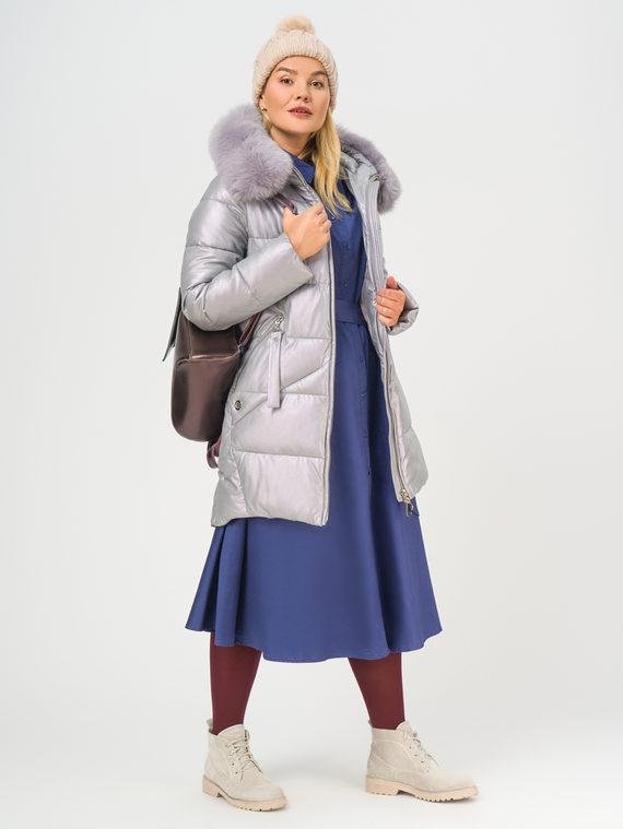 Кожаное пальто эко-кожа 100% П/А, цвет светло-фиолетовый, арт. 31109242  - цена 9490 руб.  - магазин TOTOGROUP