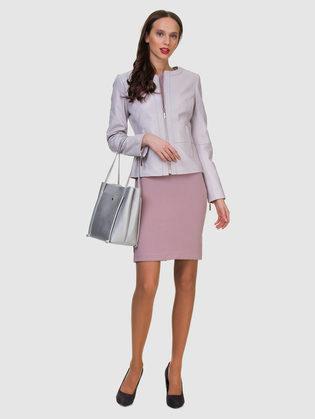 Кожаная куртка кожа овца, цвет светло-фиолетовый, арт. 31700020  - цена 9490 руб.  - магазин TOTOGROUP