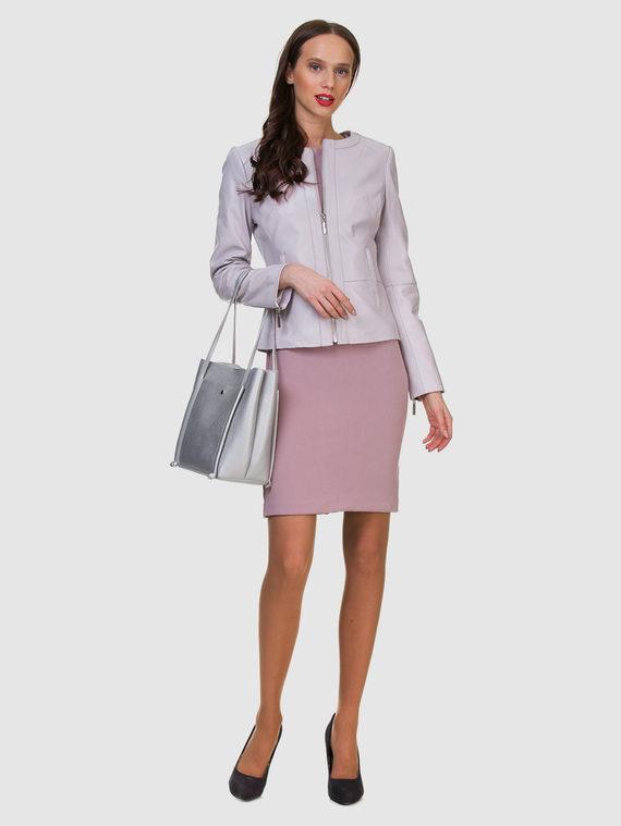 Кожаная куртка кожа , цвет светло-фиолетовый, арт. 31700020  - цена 6290 руб.  - магазин TOTOGROUP