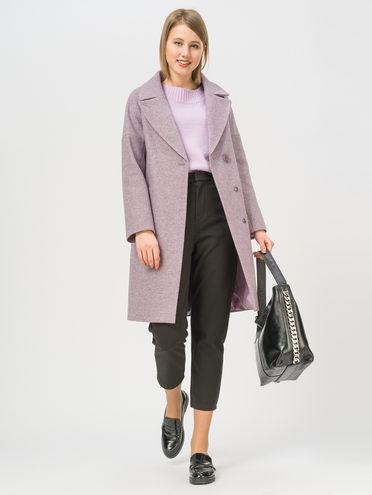 Текстильное пальто 35% шерсть, 65% полиэстер, цвет светло-фиолетовый, арт. 31809977  - цена 5890 руб.  - магазин TOTOGROUP