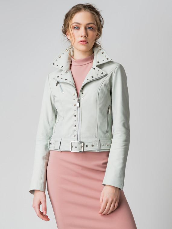 Кожаная куртка кожа коза, цвет светло-зеленый, арт. 32005515  - цена 6630 руб.  - магазин TOTOGROUP