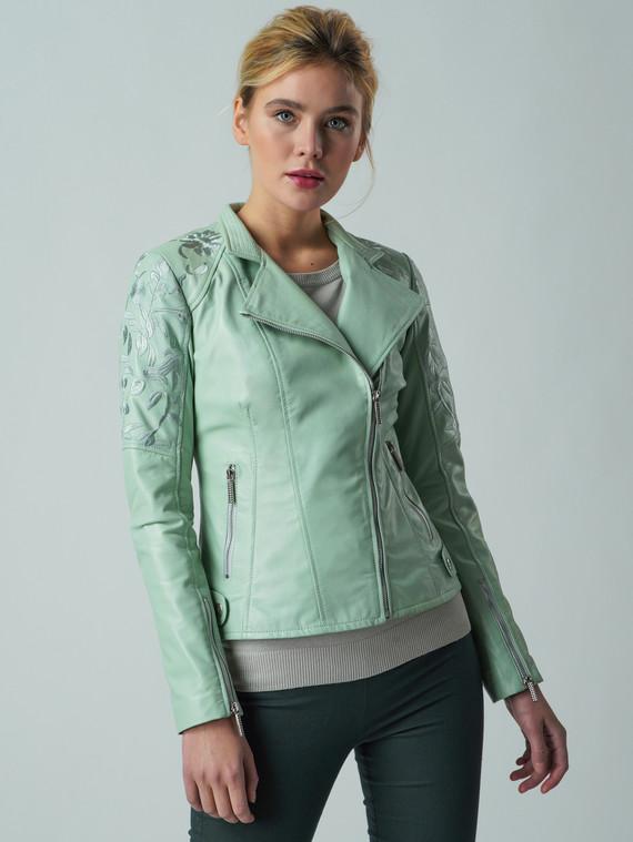 Кожаная куртка кожа , цвет светло-зеленый, арт. 32005546  - цена 7490 руб.  - магазин TOTOGROUP