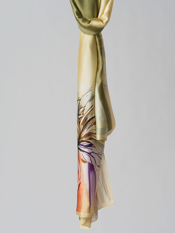 Шарф 80% п\э, 20% шелк, цвет светло-зеленый, арт. 32006126  - цена 1260 руб.  - магазин TOTOGROUP