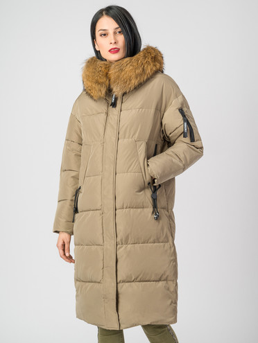 Пуховик текстиль, цвет светло-коричневый, арт. 32006499  - цена 9990 руб.  - магазин TOTOGROUP