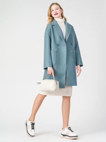 Текстильное пальто 30%шерсть, 70% п.э, цвет голубой, арт. 32107823  - цена 6290 руб.  - магазин TOTOGROUP