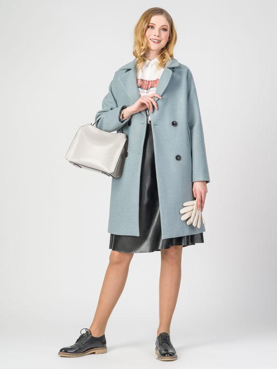 Текстильное пальто 30%шерсть, 70% п.э, цвет голубой, арт. 32107920  - цена 3590 руб.  - магазин TOTOGROUP