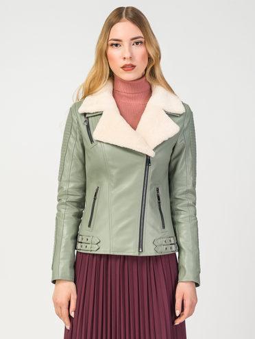 Кожаная куртка эко-кожа 100% П/А, цвет светло-зеленый, арт. 32108094  - цена 7990 руб.  - магазин TOTOGROUP