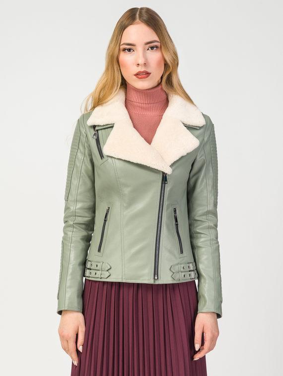 Кожаная куртка эко-кожа 100% П/А, цвет светло-зеленый, арт. 32108094  - цена 9490 руб.  - магазин TOTOGROUP