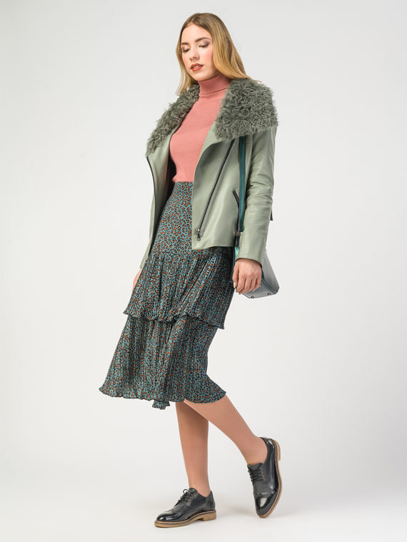 Кожаная куртка эко-кожа 100% П/А, цвет светло-зеленый, арт. 32108095  - цена 8990 руб.  - магазин TOTOGROUP