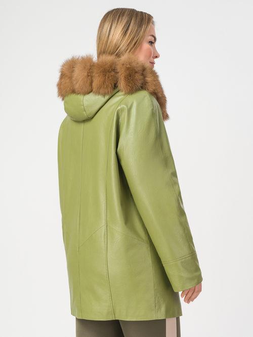 Кожаная куртка артикул 32108112/58 - фото 3