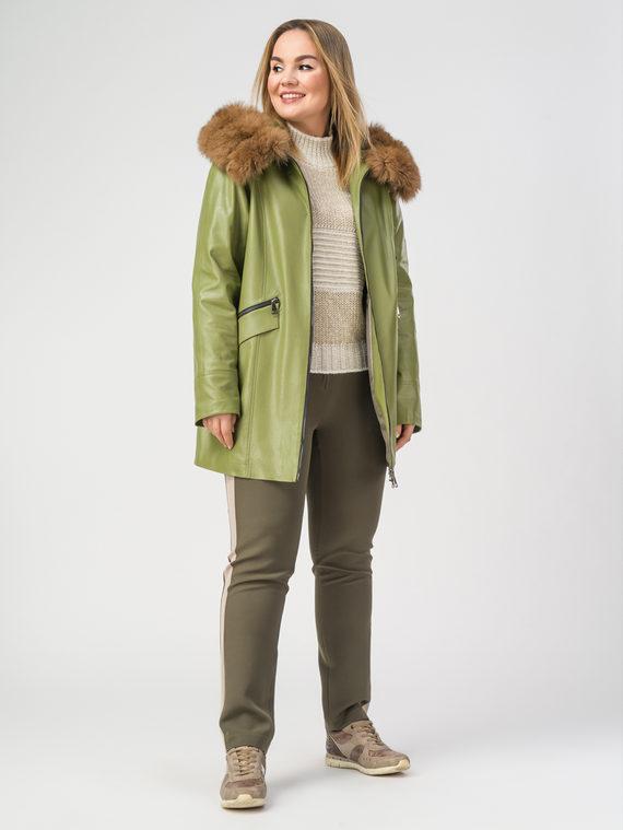 Кожаная куртка эко-кожа 100% П/А, цвет светло-зеленый, арт. 32108112  - цена 8490 руб.  - магазин TOTOGROUP