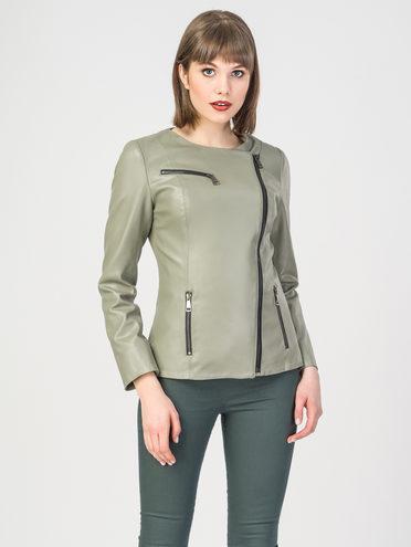 Кожаная куртка эко-кожа 100% П/А, цвет светло-зеленый, арт. 32108128  - цена 5290 руб.  - магазин TOTOGROUP
