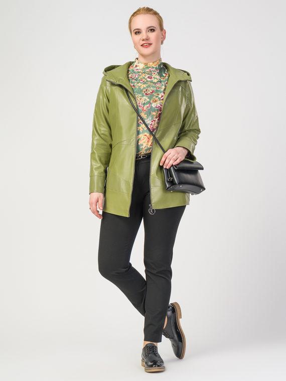 Кожаная куртка эко-кожа 100% П/А, цвет светло-зеленый, арт. 32108143  - цена 4740 руб.  - магазин TOTOGROUP