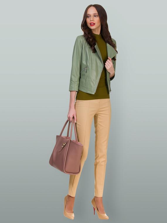 Кожаная куртка кожа , цвет светло-зеленый, арт. 32700039  - цена 6990 руб.  - магазин TOTOGROUP
