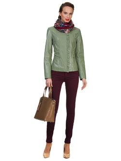 Кожаная куртка кожа овца, цвет светло-зеленый, арт. 32700045  - цена 13990 руб.  - магазин TOTOGROUP