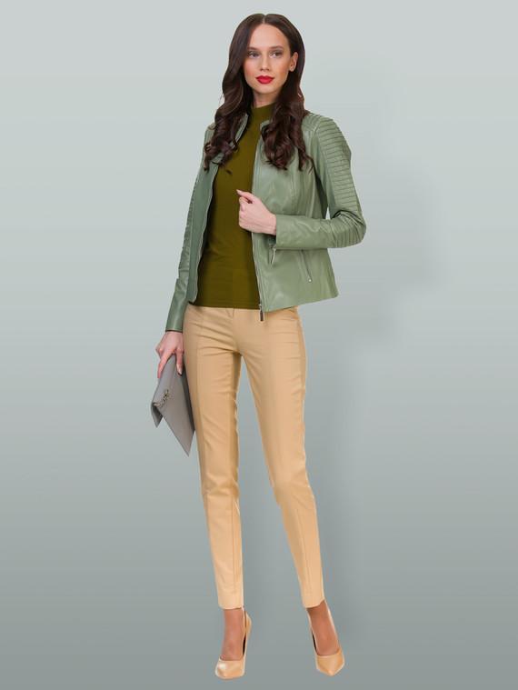 Кожаная куртка кожа , цвет светло-зеленый, арт. 32700048  - цена 7490 руб.  - магазин TOTOGROUP
