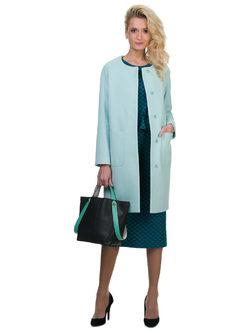 Текстильное пальто 70%шерсть,30%п,а, цвет светло-зеленый, арт. 32700499  - цена 6990 руб.  - магазин TOTOGROUP