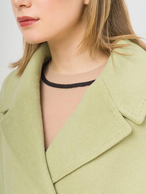 Текстильное пальто артикул 32809322/44 - фото 4
