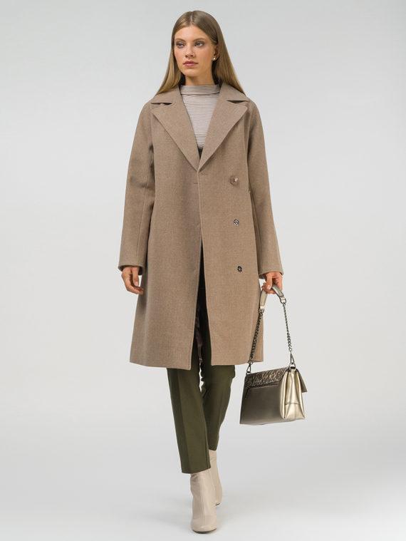 Текстильное пальто 35% шерсть, 65% полиэстер, цвет светло-зеленый, арт. 32810101  - цена 6990 руб.  - магазин TOTOGROUP