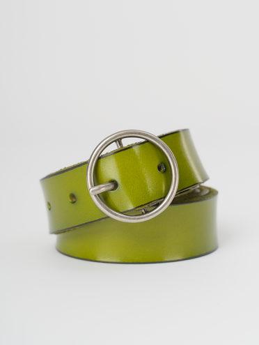 Ремень кожа теленок, цвет светло-зеленый, арт. 32810399  - цена 890 руб.  - магазин TOTOGROUP