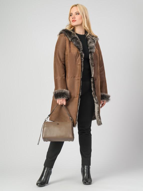 Дубленка дуб. овчина, цвет коричневый, арт. 33006765  - цена 26990 руб.  - магазин TOTOGROUP