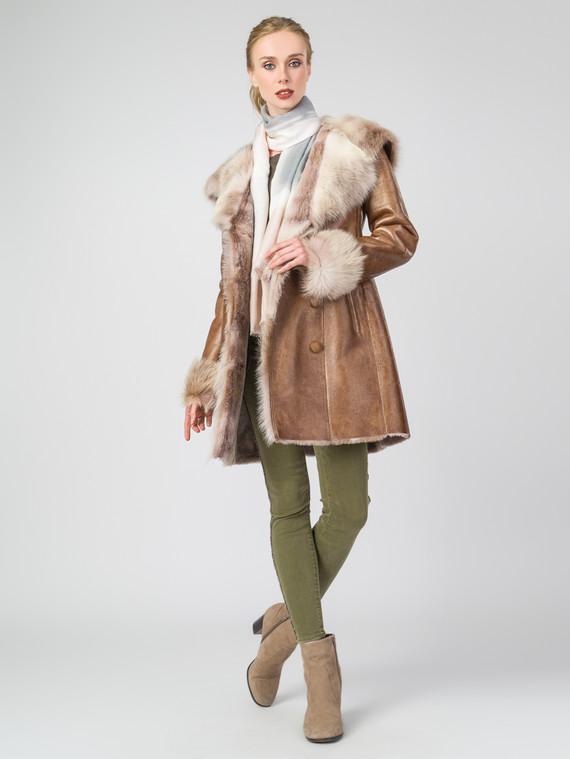 Дубленка дуб. овчина, цвет рыжий, арт. 33006767  - цена 42490 руб.  - магазин TOTOGROUP