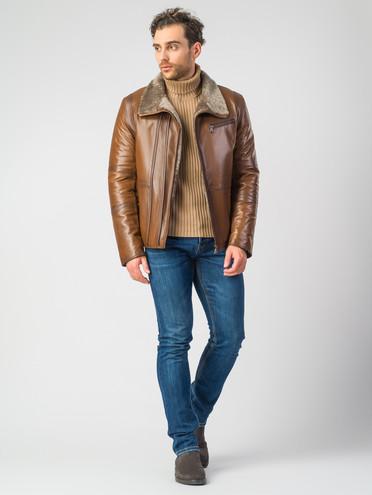 Кожаная куртка кожа баран, цвет рыжий, арт. 33007280  - цена 23990 руб.  - магазин TOTOGROUP